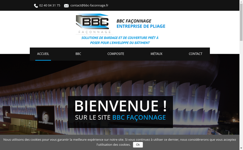 Capture d'écran du site de Bbc Faconnage