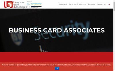Site internet de Business Card Associates