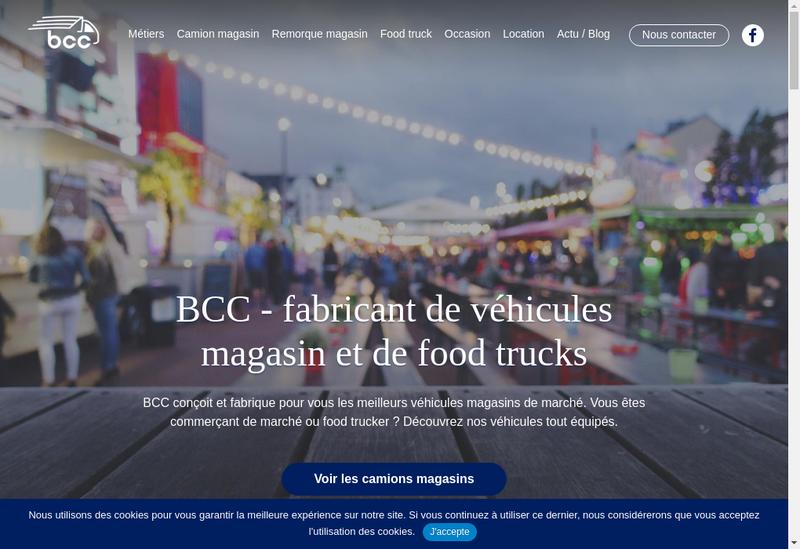 Capture d'écran du site de BCC
