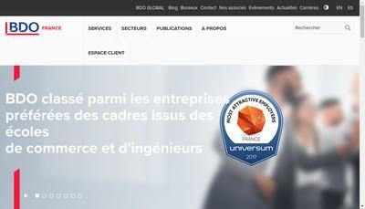 Site internet de Bdo