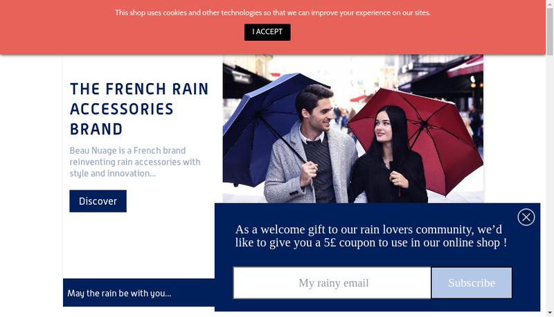 Capture d'écran du site de Beau Nuage