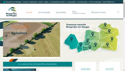 Capture d'écran du site de Jallais