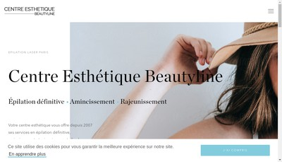 Site internet de Beautyline Institut
