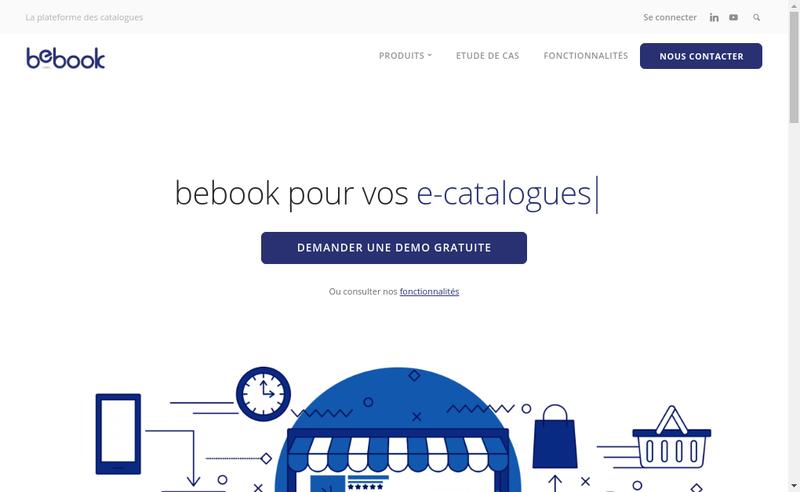 Capture d'écran du site de Bebook