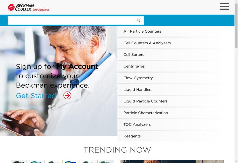 Capture d'écran du site de Immunotech