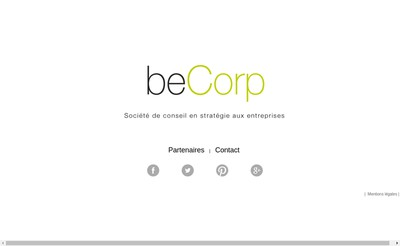Site internet de Becorp