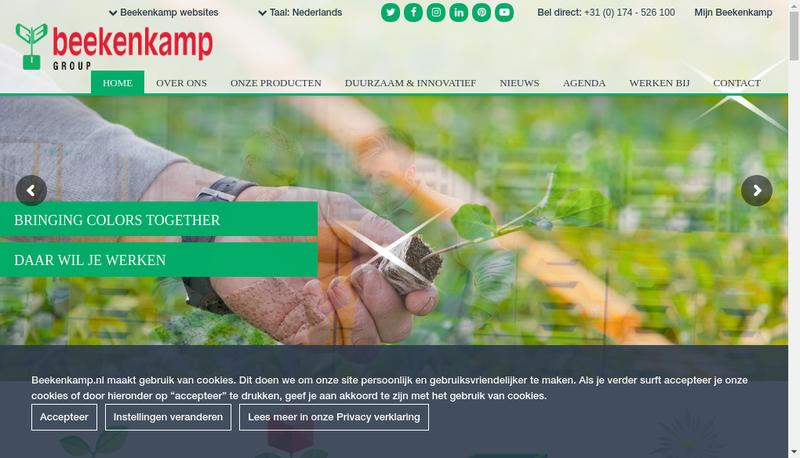 Capture d'écran du site de Beekenkamp