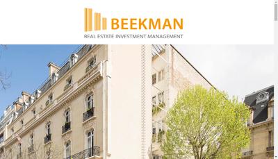 Capture d'écran du site de Beekman Reim