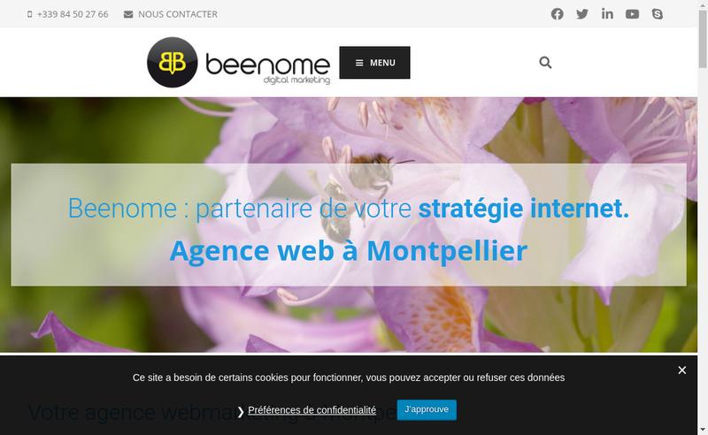 Capture d'écran du site de Beenome