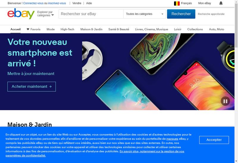 Capture d'écran du site de Mervy