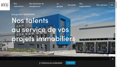 Site internet de Beg Ingenierie