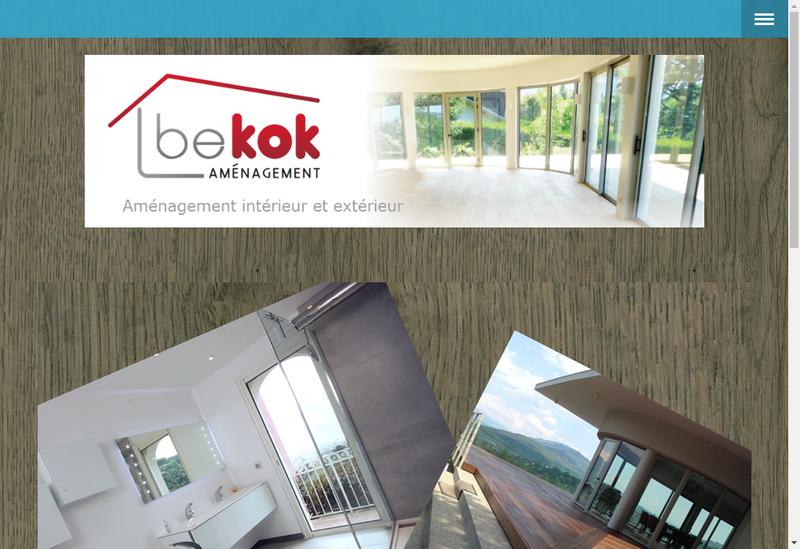 Capture d'écran du site de Be Kok Amenagement