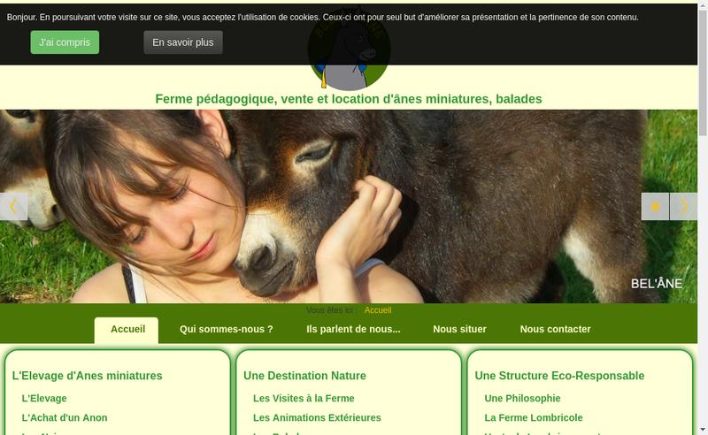 Capture d'écran du site de Bel'Ane