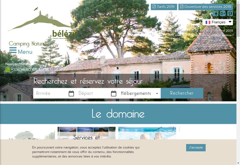Capture d'écran du site de Belezy Provence