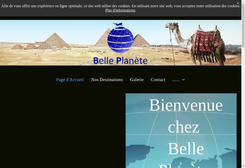 Capture d'écran du site de Belle Planete