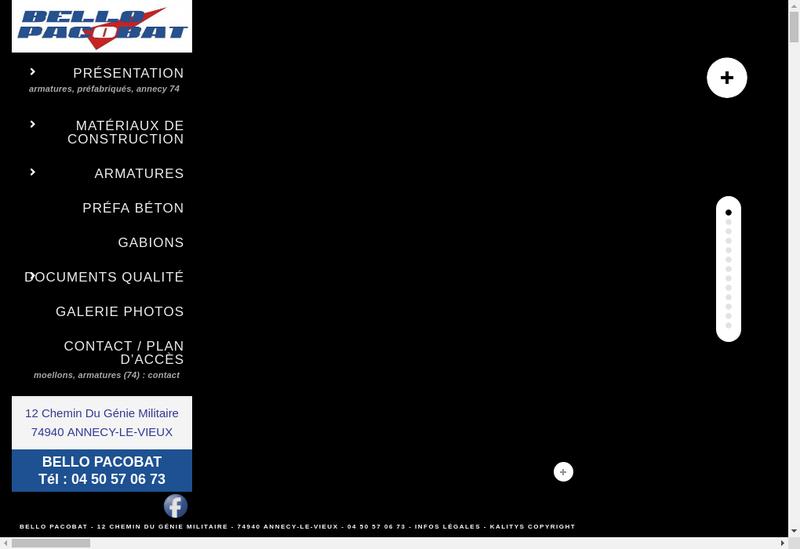 Capture d'écran du site de Bello Pacobat