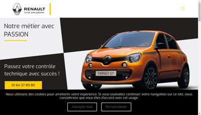 Capture d'écran du site de Berard Automobile