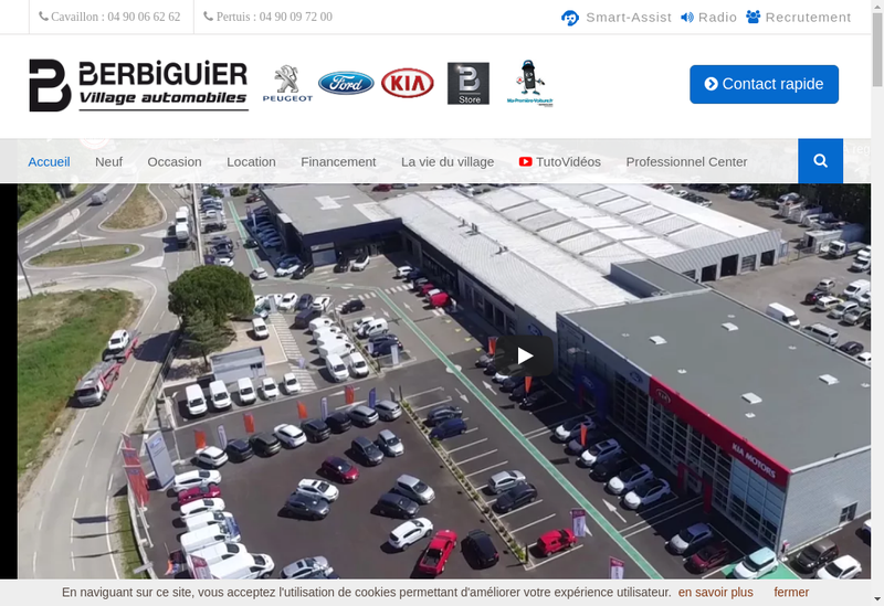 Capture d'écran du site de Peugeot Cavaillon