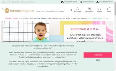 Site internet de Berceau Magique Com French Baby
