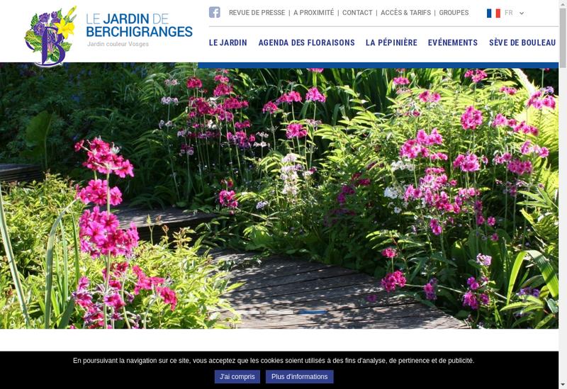 Capture d'écran du site de EURL Jardin de Berchigranges