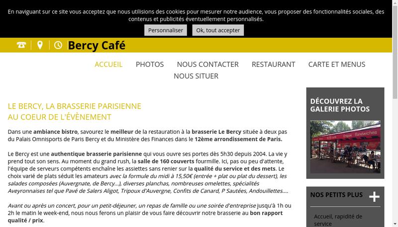Capture d'écran du site de Le Bercy