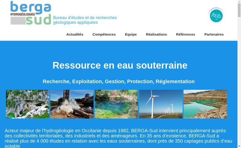 Capture d'écran du site de Berga-Sud