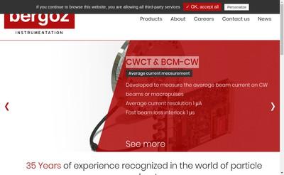 Site internet de Bergoz Instrumentation