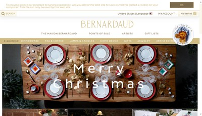 Site internet de Porcelaines Bernardaud