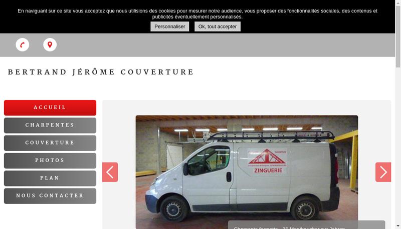 Capture d'écran du site de Bertrand Jerome
