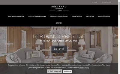 Site internet de Meubles Bertrand