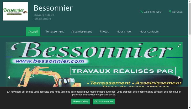 Capture d'écran du site de SARL Bessonnier