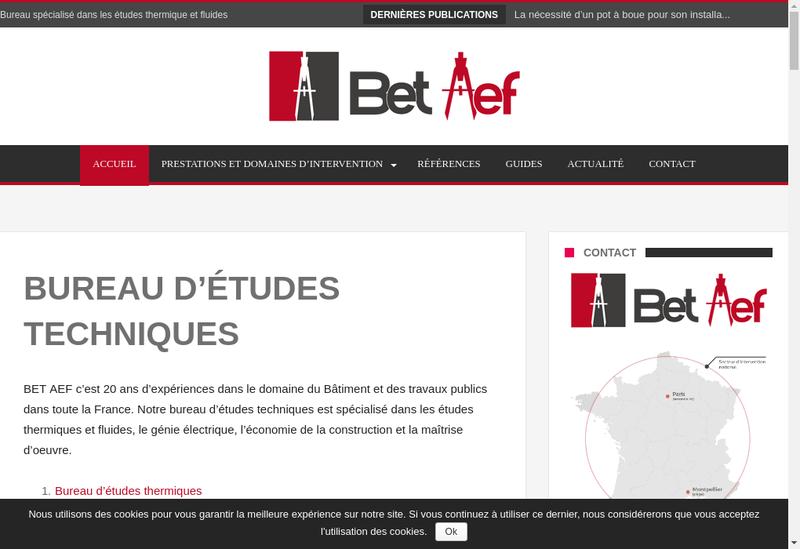 Capture d'écran du site de Bet Aef