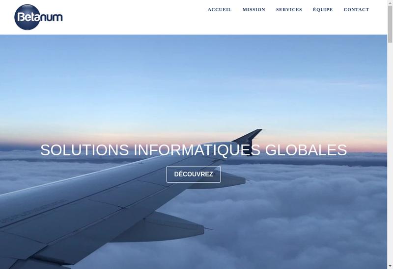 Capture d'écran du site de Betanum