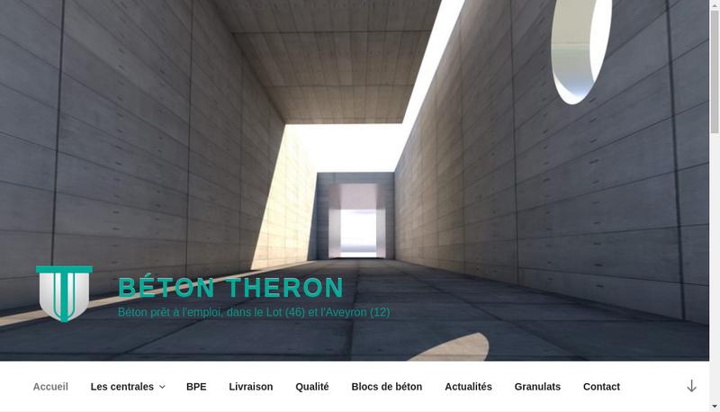 Capture d'écran du site de Beton Theron
