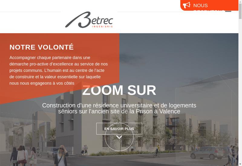 Capture d'écran du site de Betrec Ig