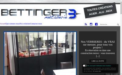 Site internet de Metallerie Bettinger