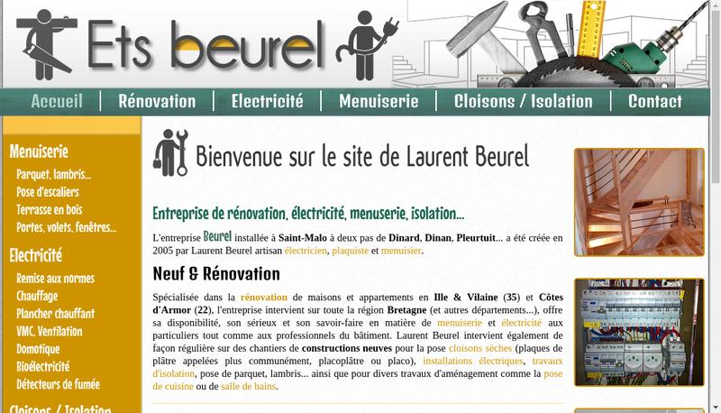 Capture d'écran du site de Domaine de la Barbinais - Cap Danse