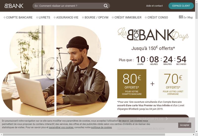Capture d'écran du site de Bforbank