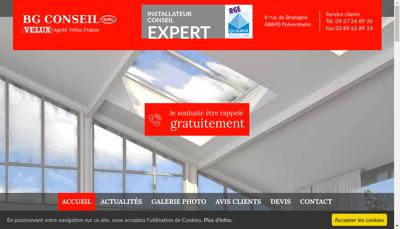 Capture d'écran du site de Bg Conseil