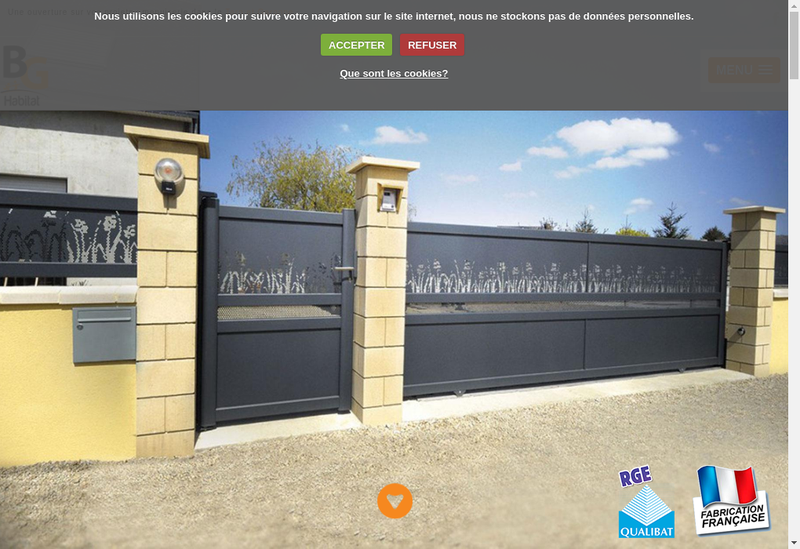 Capture d'écran du site de Menuiseries Bg Habitat