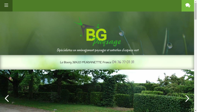 Capture d'écran du site de SARL Bg Paysage