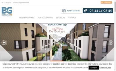 Site internet de B&G Promoteur Constructeur