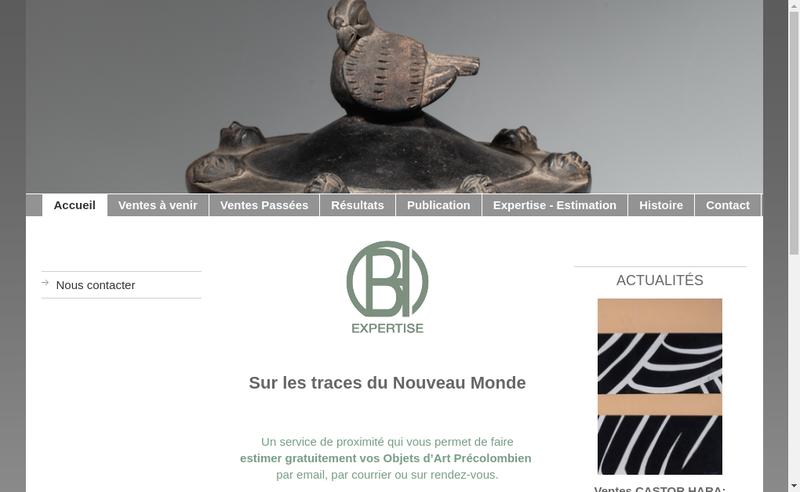 Capture d'écran du site de Bh Expertise