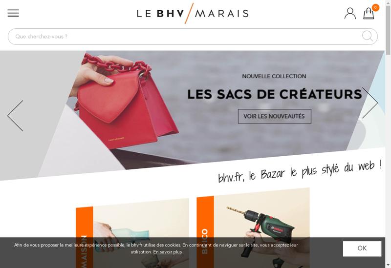 Capture d'écran du site de Immobiliere du Marais