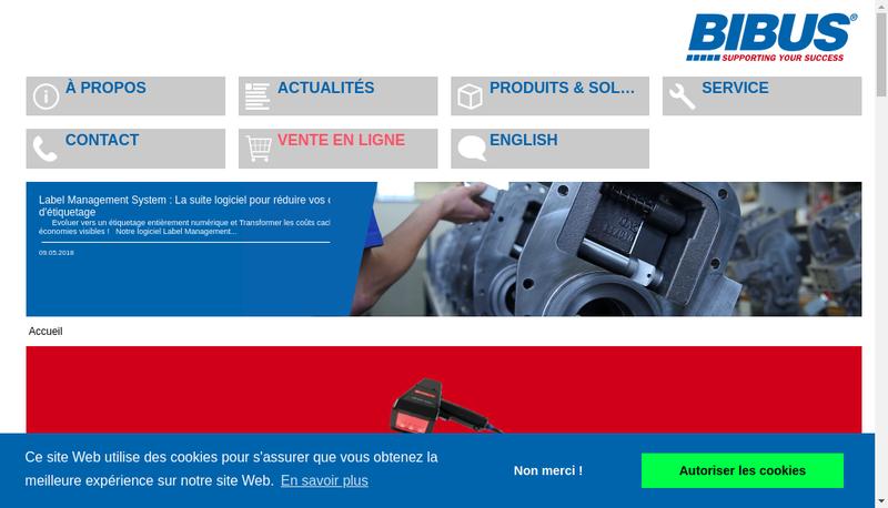 Capture d'écran du site de Bibus France
