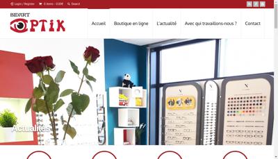 Capture d'écran du site de Bidart Optik