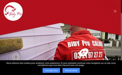 Site internet de Bidy Pro