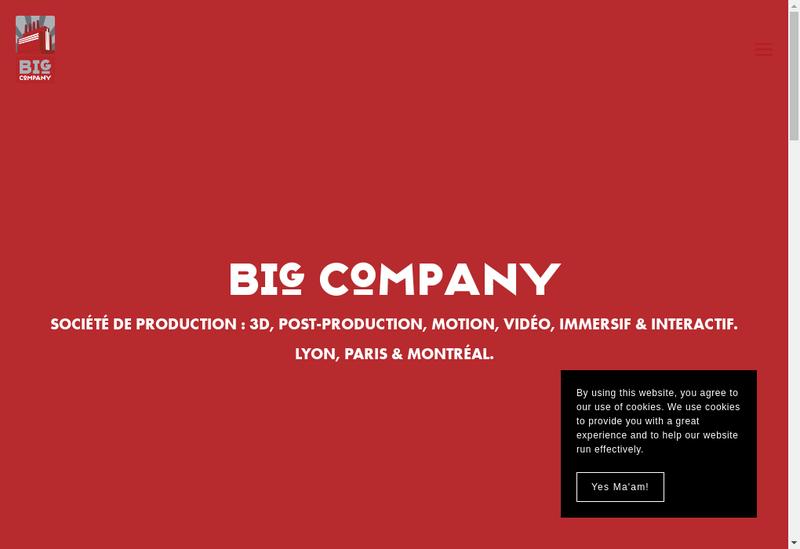 Capture d'écran du site de Big Company