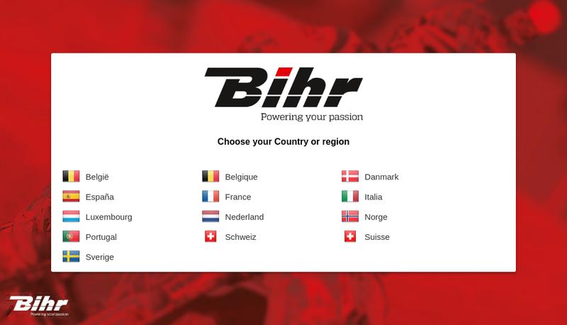 Capture d'écran du site de BIHR