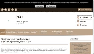 Capture d'écran du site de Bikini